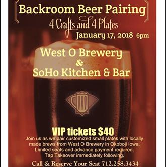 Backroom Beer Pairing