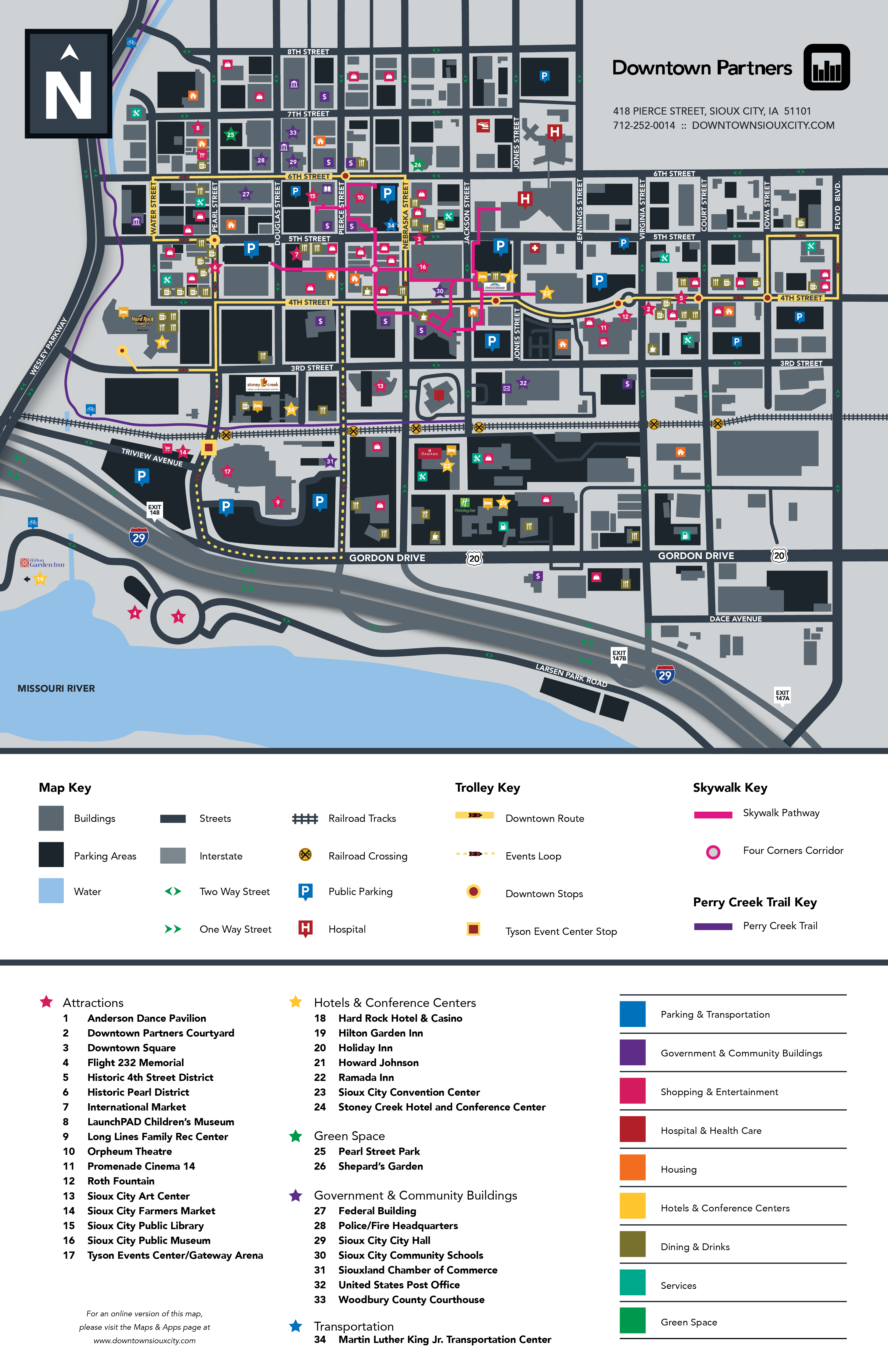 Downtown Sioux City Tearoff Map