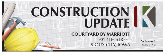 Progress on Siouxland's NEW Courtyard by Marriott on 4th St.