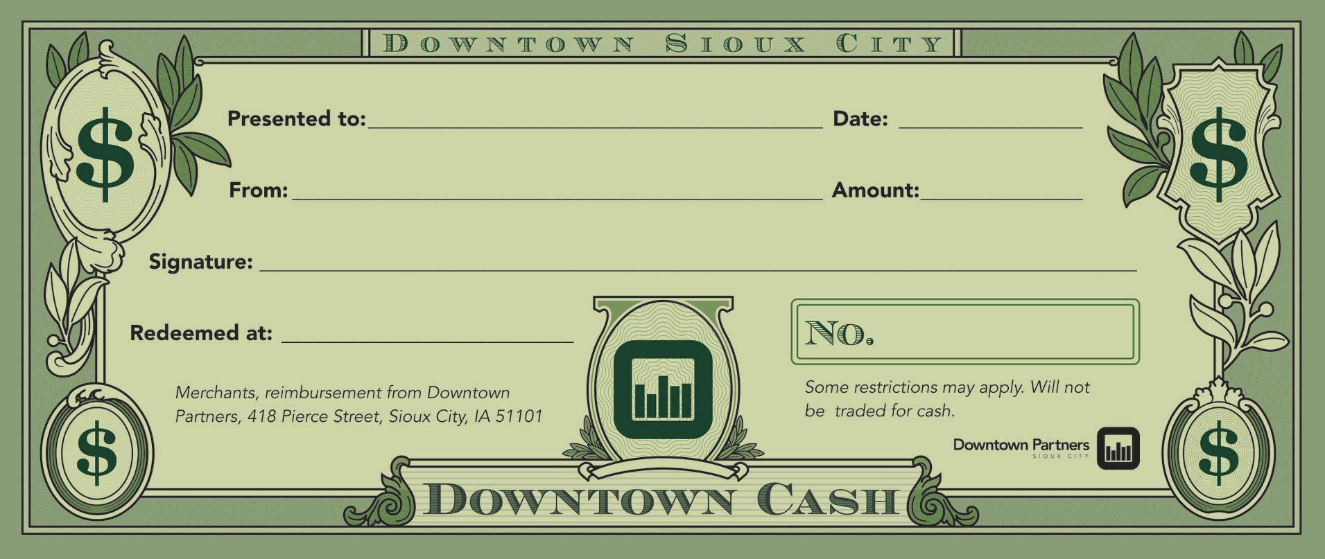 Win Cash To Spend At Downtown Businesses!